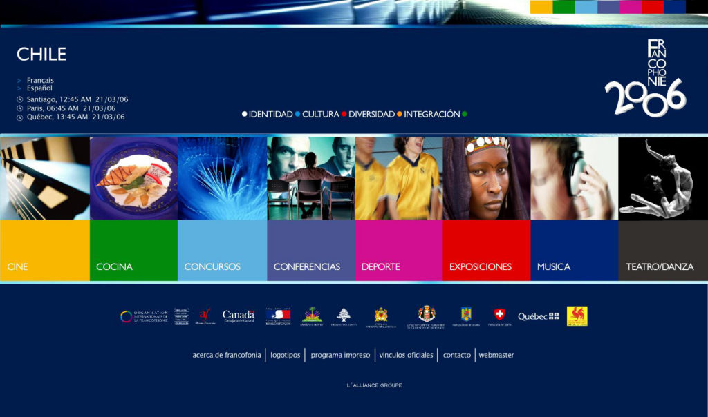 Website Francophonie 2006 2