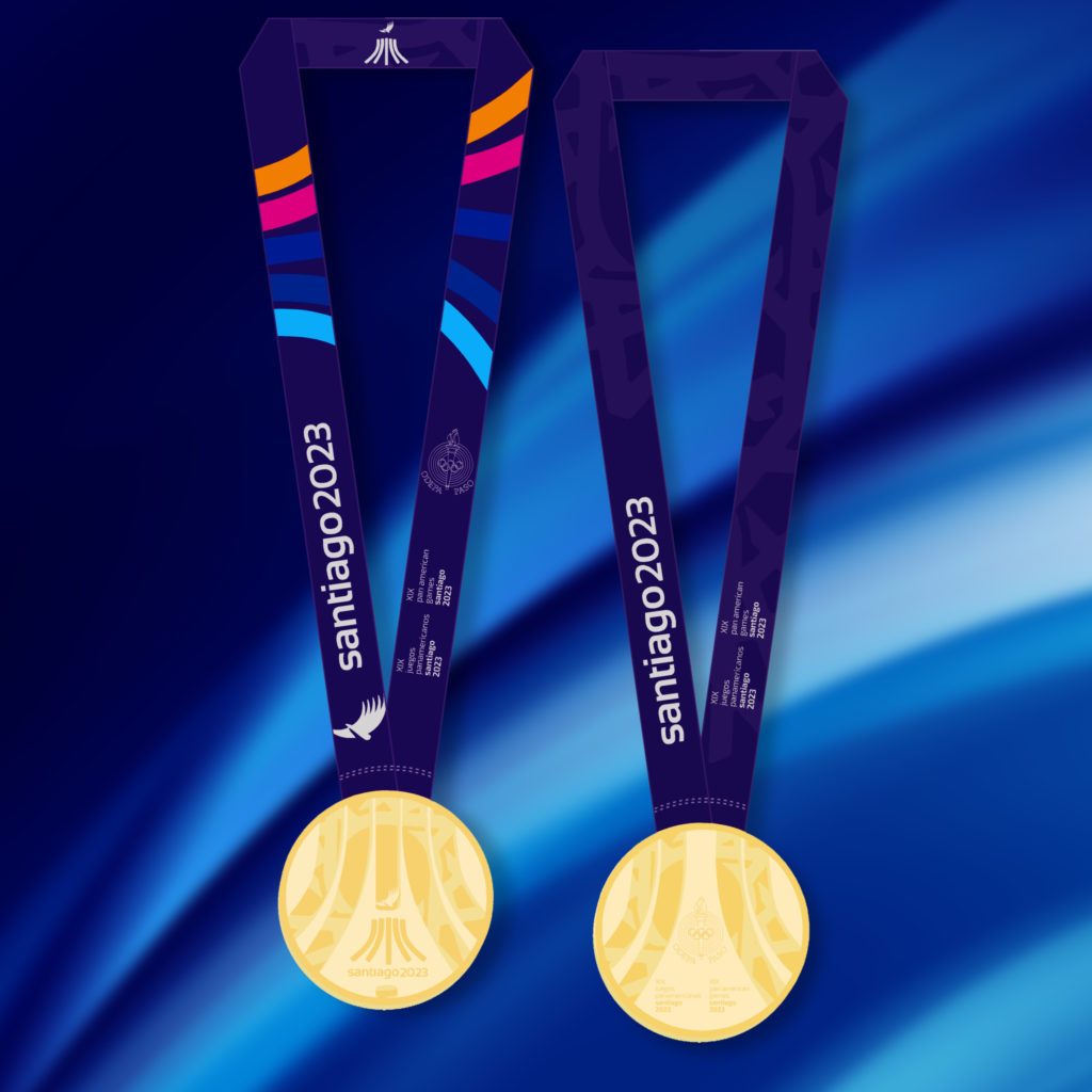 2023 PanAm Games Medals GOLD COLOR