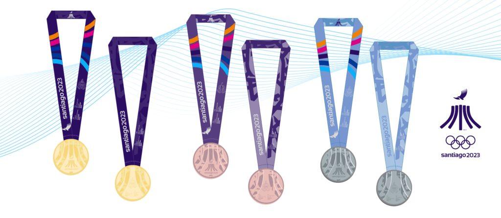 2023 PanAm Games Santiago Medals OR BZ SL