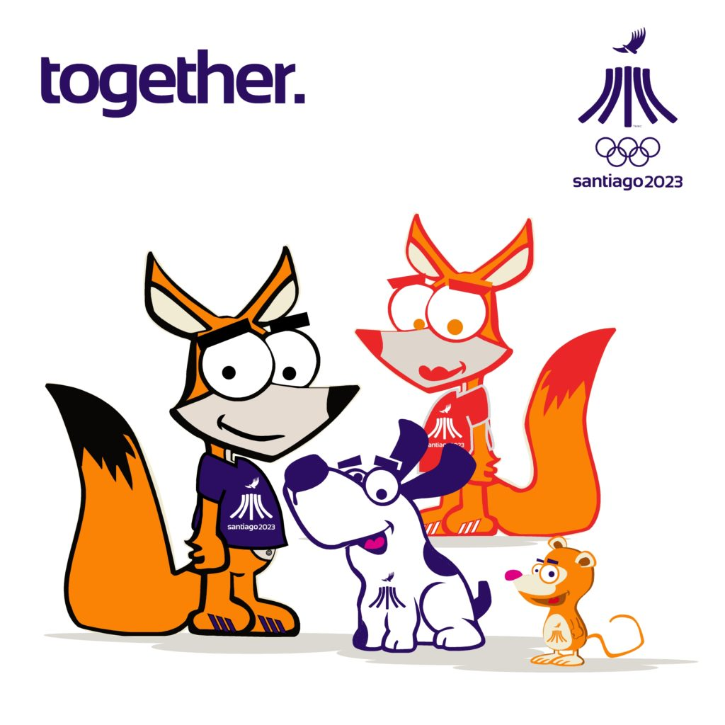 PanAm Games Santiago 2023 Mascotas Friends2