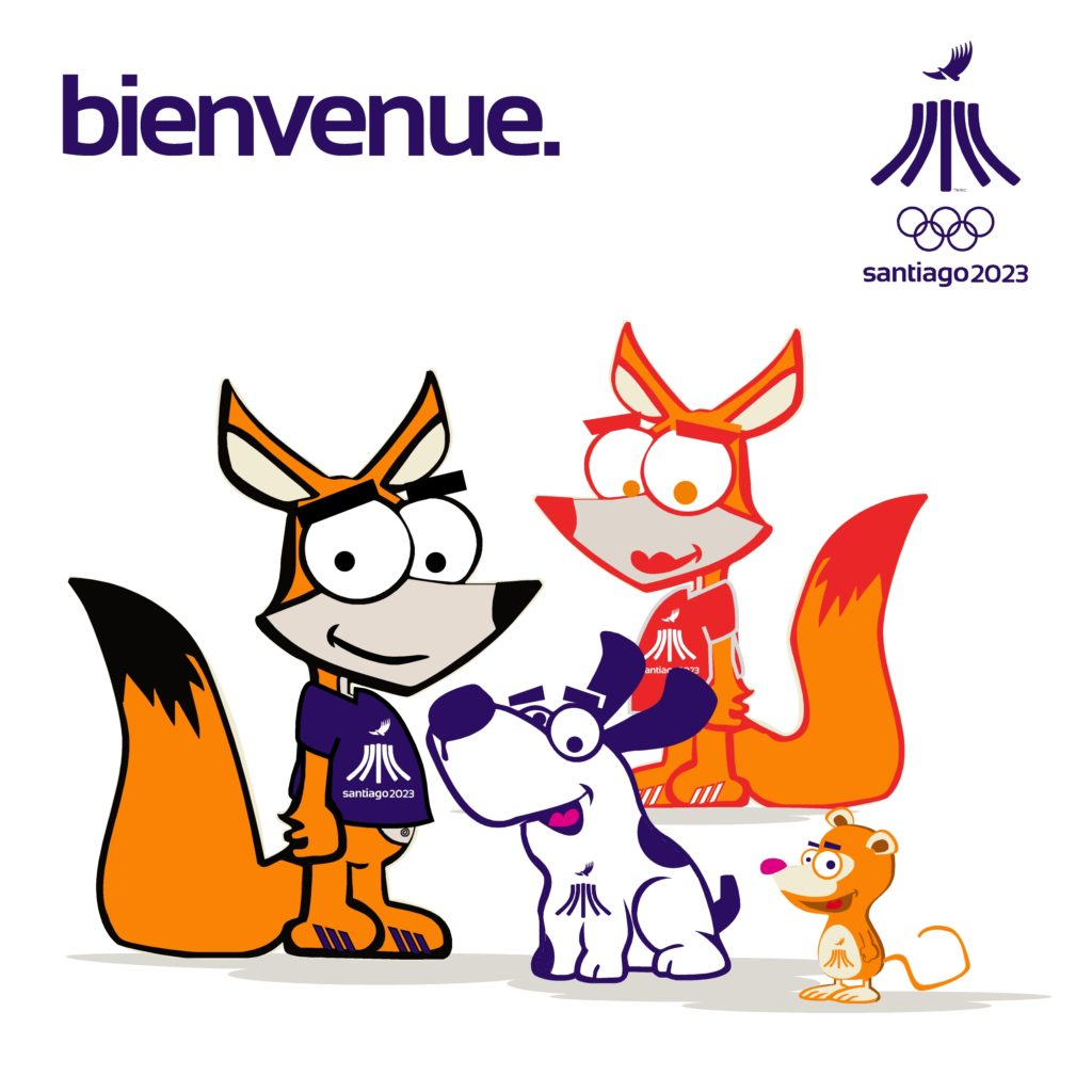 PanAm Games Santiago 2023 Mascotas Friends3