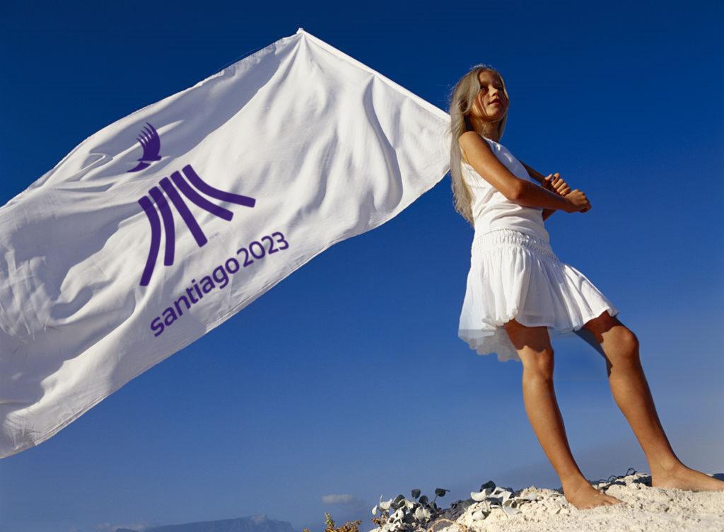 bandera Juegos Panamericanos Santiago 2023