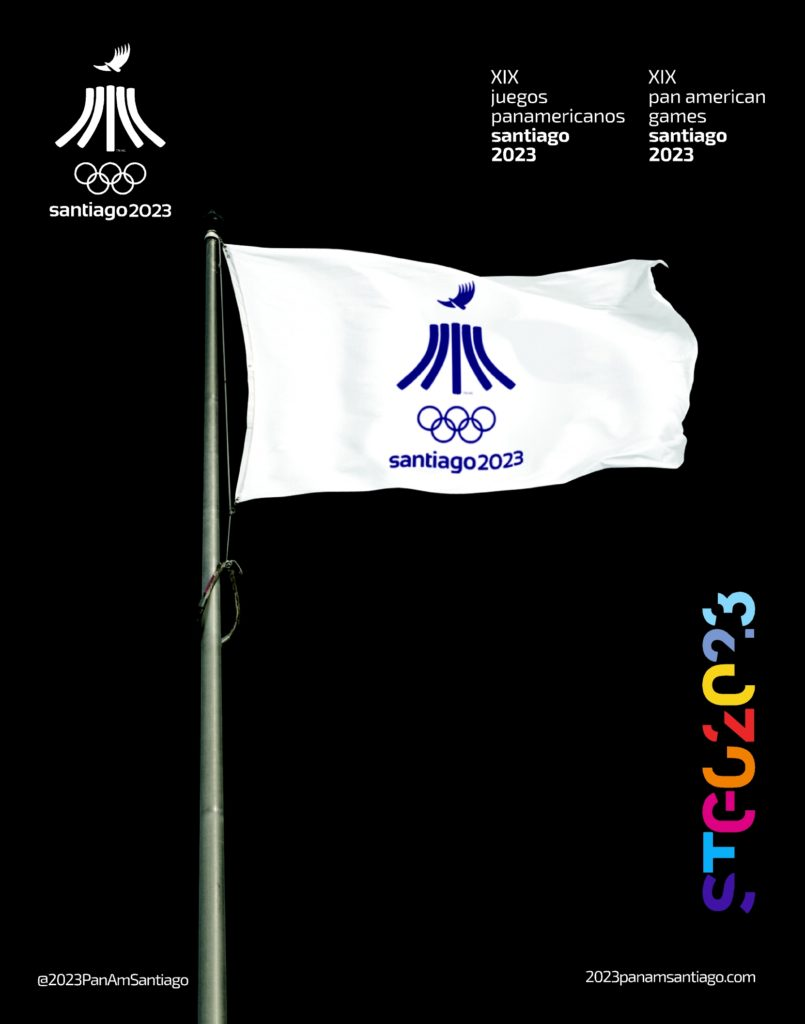 2023 PanAm Games Santiago 2023 Official Flags 3