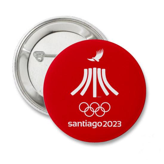 2023 PIN ROJO JUEGOS PANAMERICANOS SANTIAGO