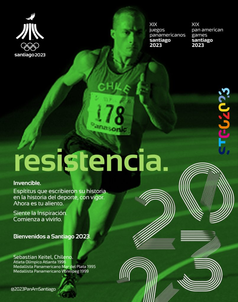 2023 SEBASTIAN KEITEL JUEGOS PANAMERICANOS SANTIAGO POSTER