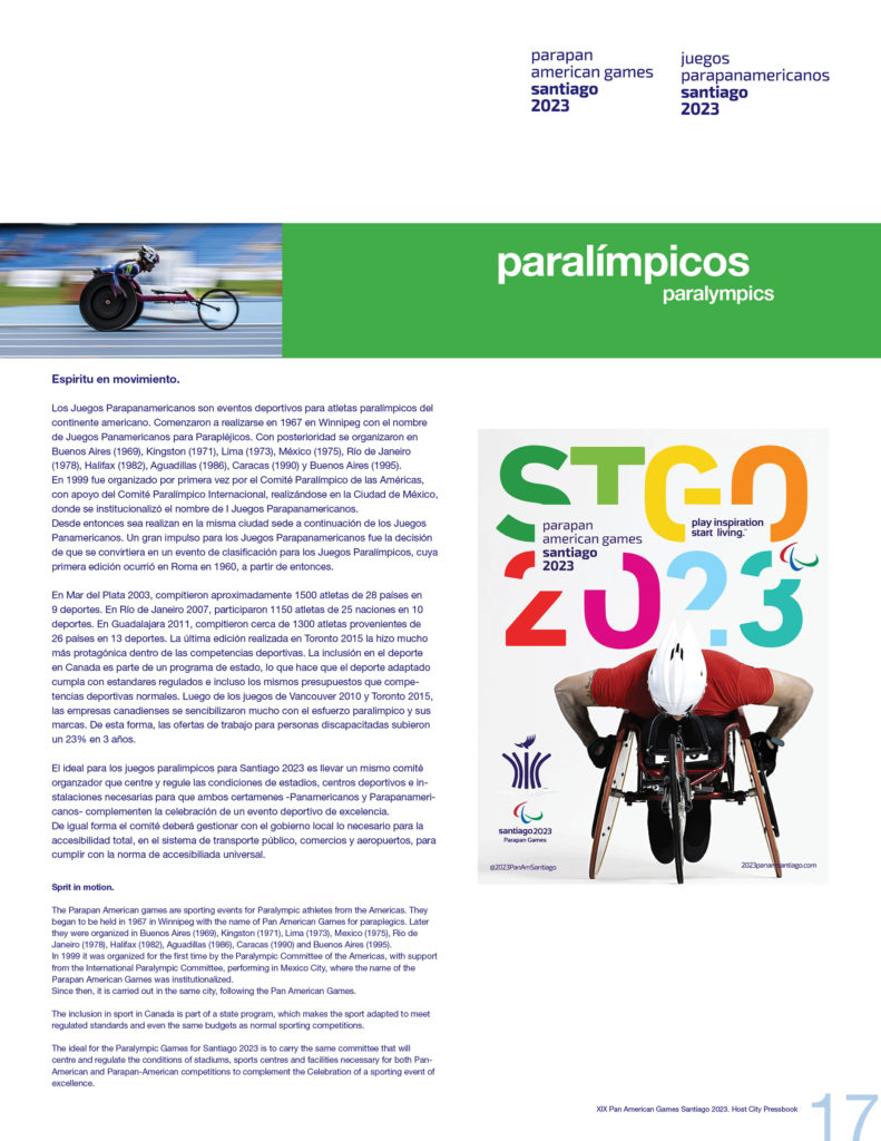 2023 PAN AMERICAN GAMES SANTIAGO OFFICIAL PRESSBOOK VISUAL DEF PRINT17