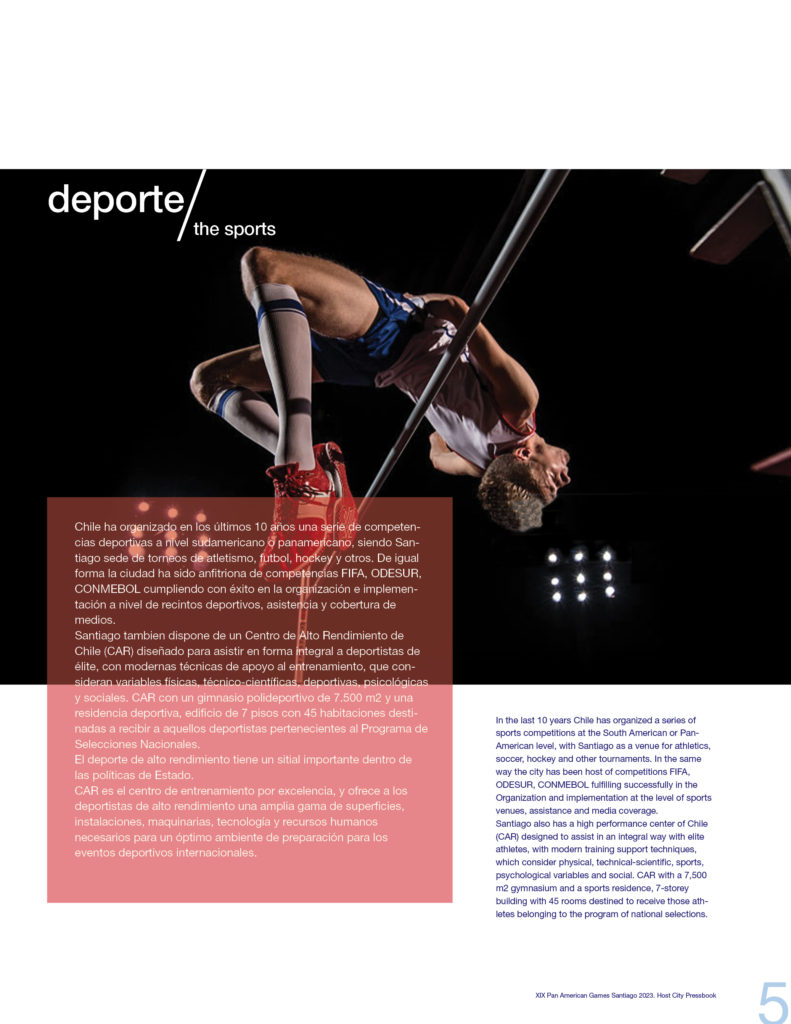2023 PAN AMERICAN GAMES SANTIAGO OFFICIAL PRESSBOOK VISUAL DEF PRINT5
