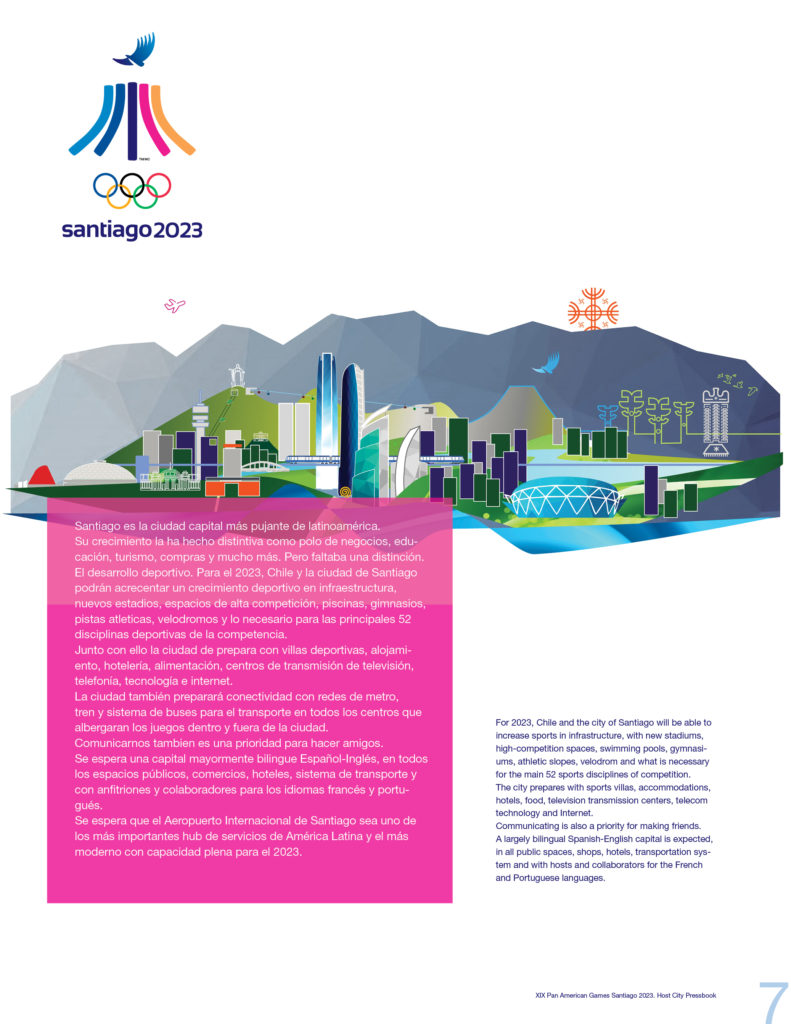 2023 PAN AMERICAN GAMES SANTIAGO OFFICIAL PRESSBOOK VISUAL DEF PRINT7