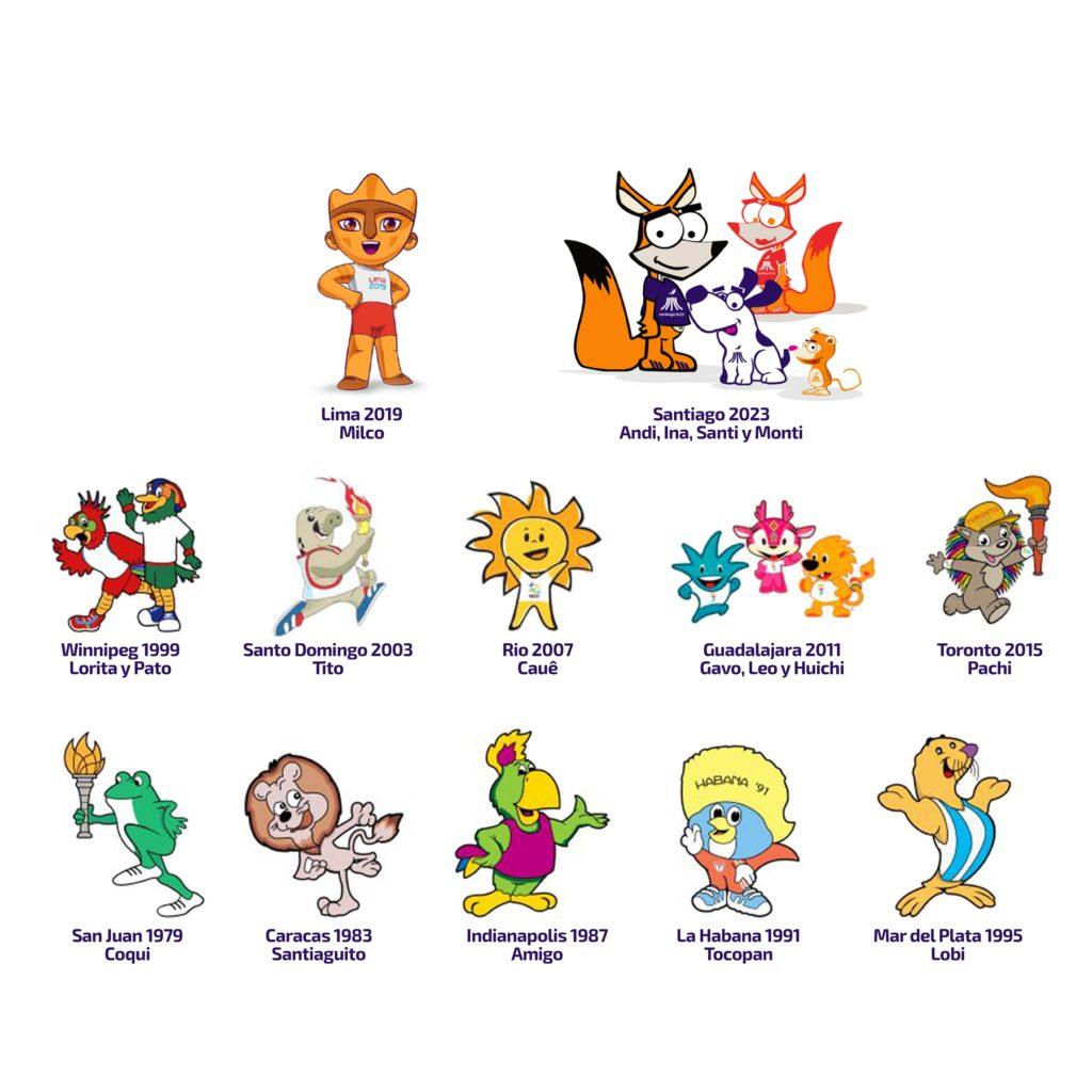 Mascotas Oficiales Juegos Panamericanos ODEPA