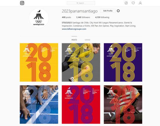 Juegos Panamericanos Santiago 2023 2018 instagram