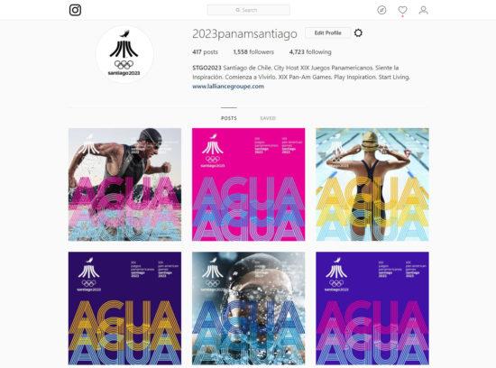 Juegos Panamericanos Santiago 2023 Instagram Elementos