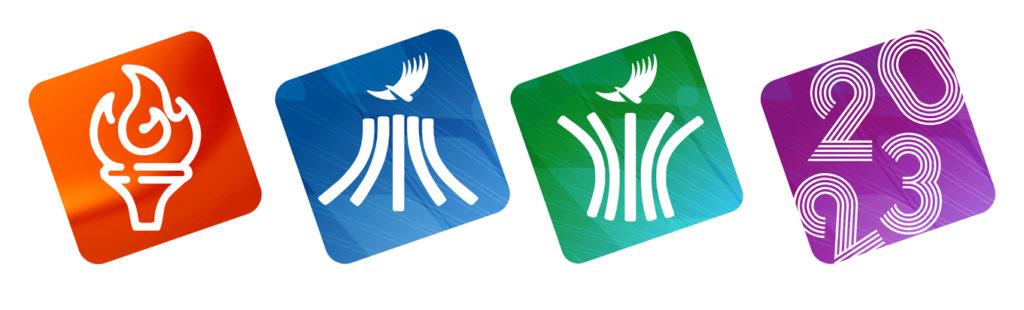 Pictogramas oficiales Juegos Panamericanos Santiago 2023 C
