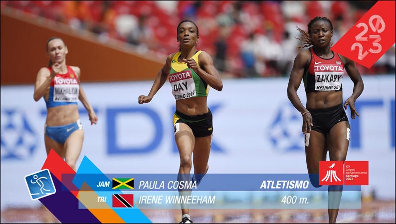 Pictogramas oficiales Juegos Panamericanos Santiago 2023 H