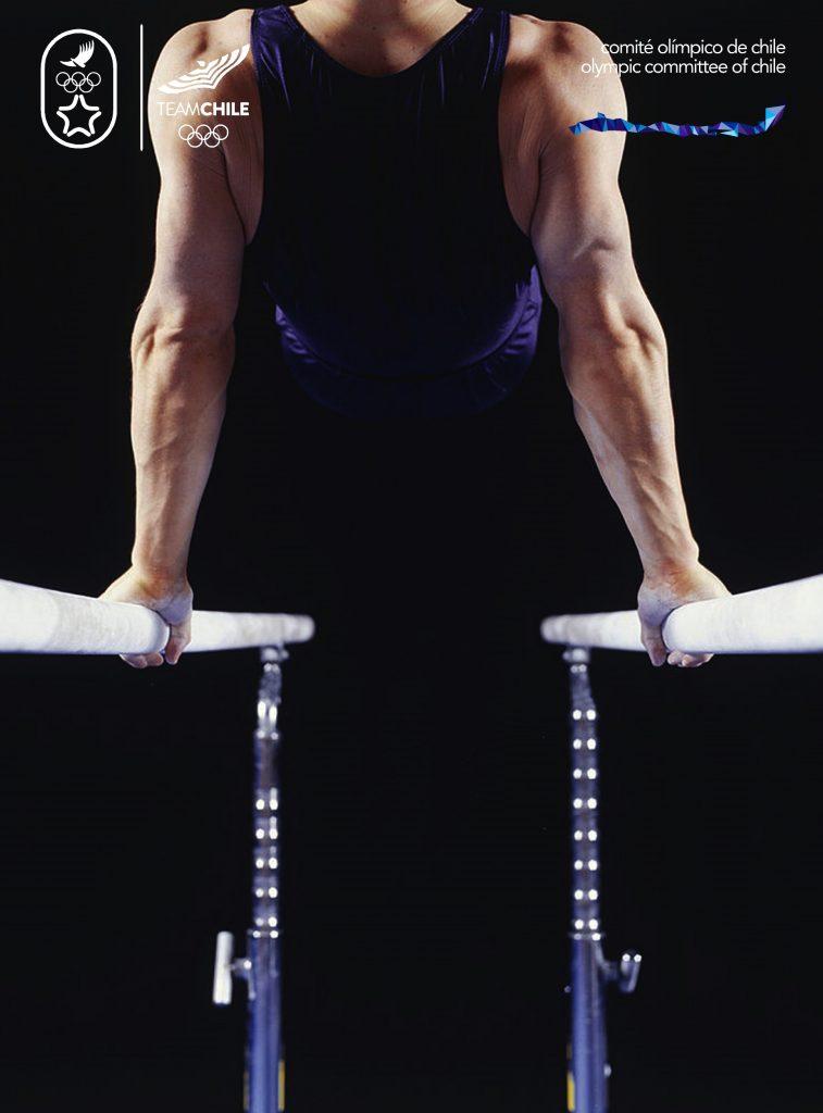 Santiago 2023 Comite Olimpico Chile Branding Afiche Hombre2