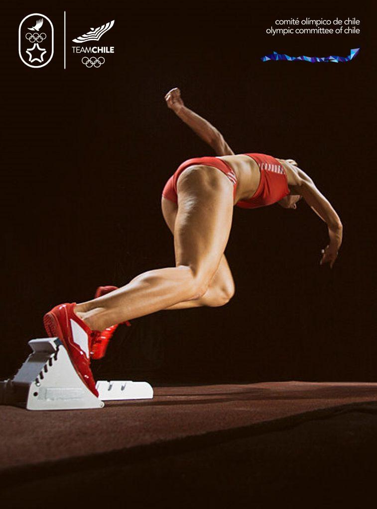 Santiago 2023 Comite Olimpico Chile Branding Afiche Mujer