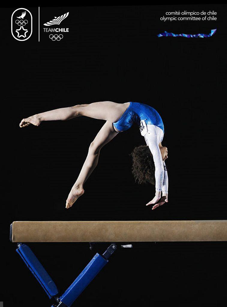 Santiago 2023 Comite Olimpico Chile Branding Afiche Mujer3